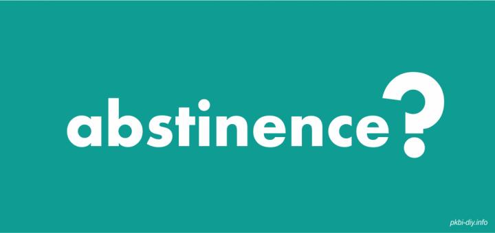 ABSTINANCE